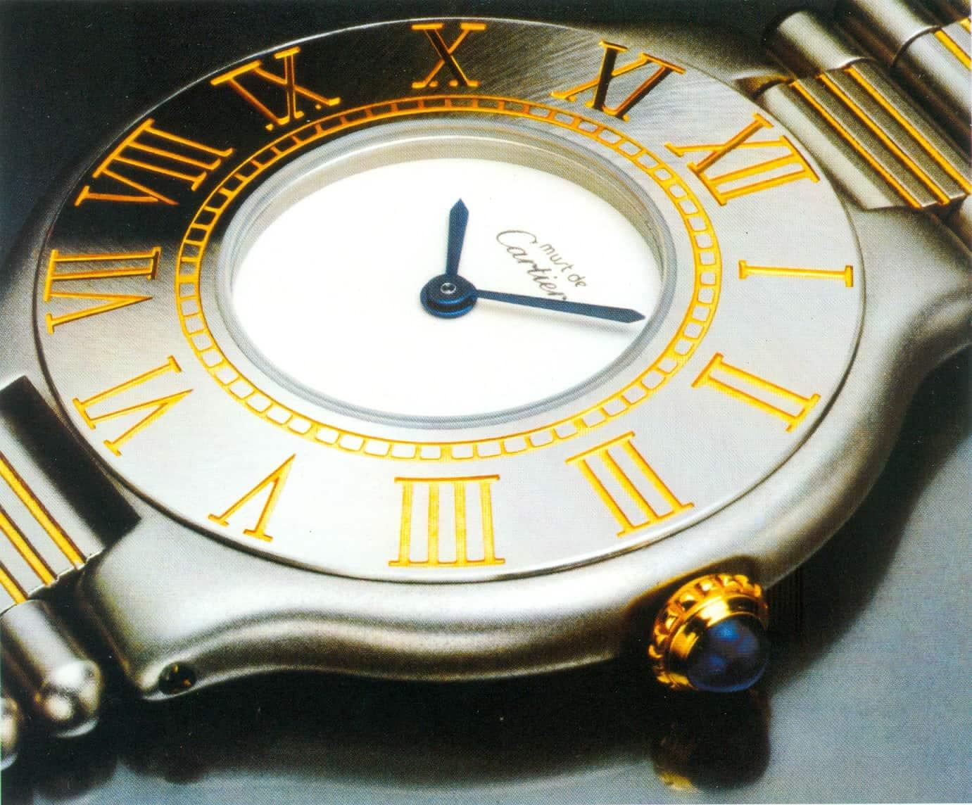"""must de Cartier"" Armbanduhr mit Quarzwerk"