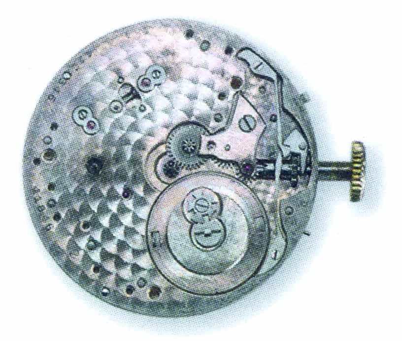Die Malteserkreuz-Stellung auf dem Federhaus zeigt die Qualität des Uhrwerks