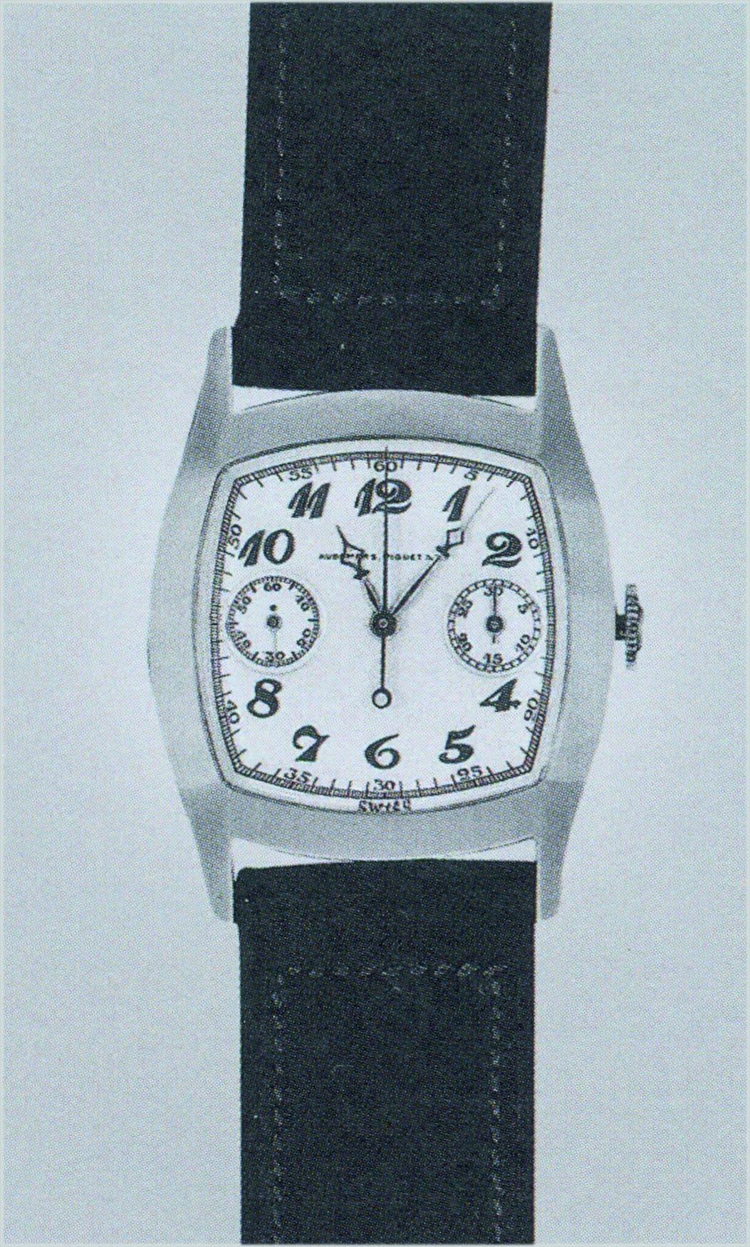 Audemars Piguet Chronograph, Kaliber 11GCCV  von 1930 mit Kronendrücker