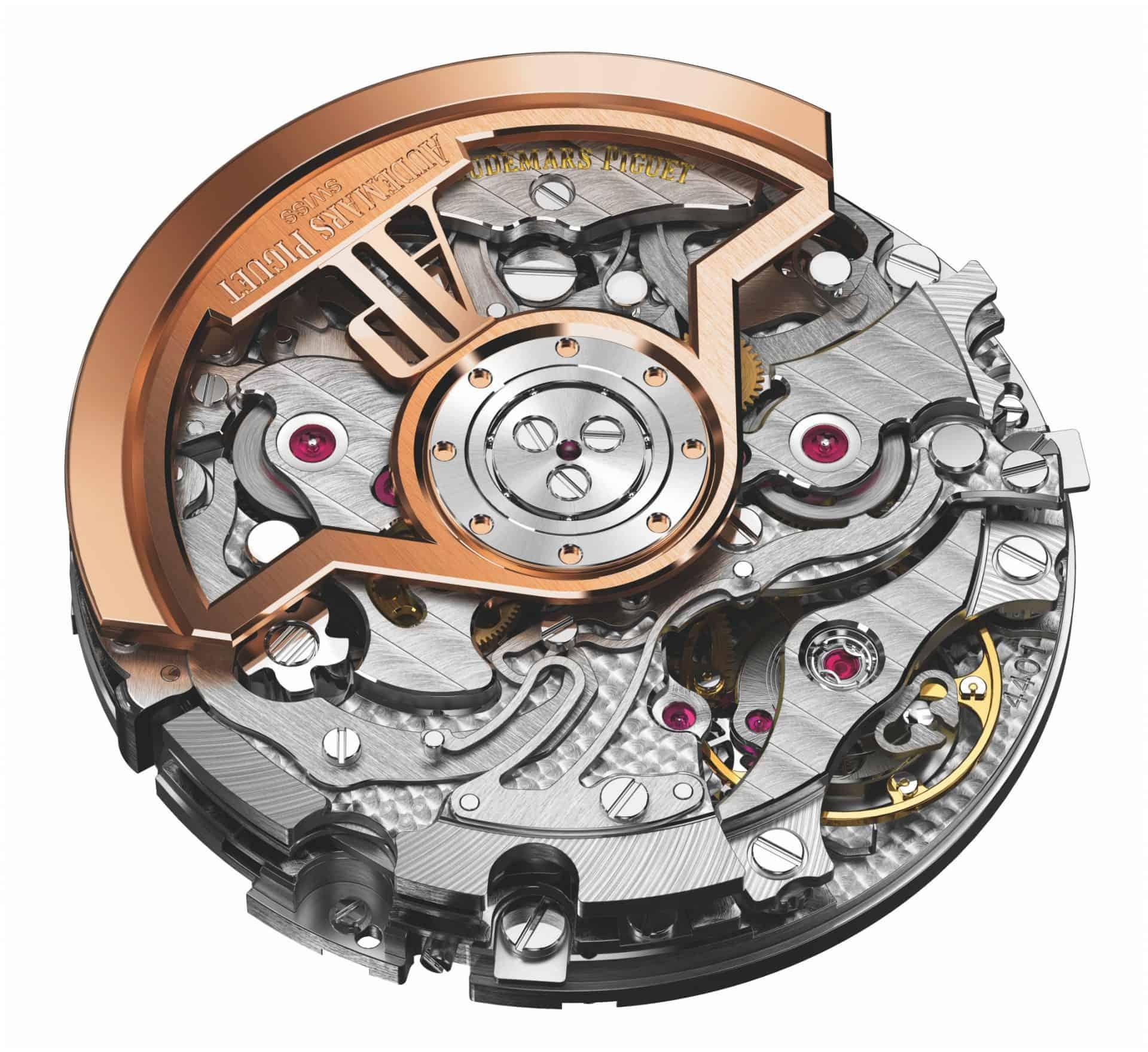 Die Rotorseite des  Audemars Piguet Manufakturkalibers 4401 mit Selbstaufzug und Chronograph