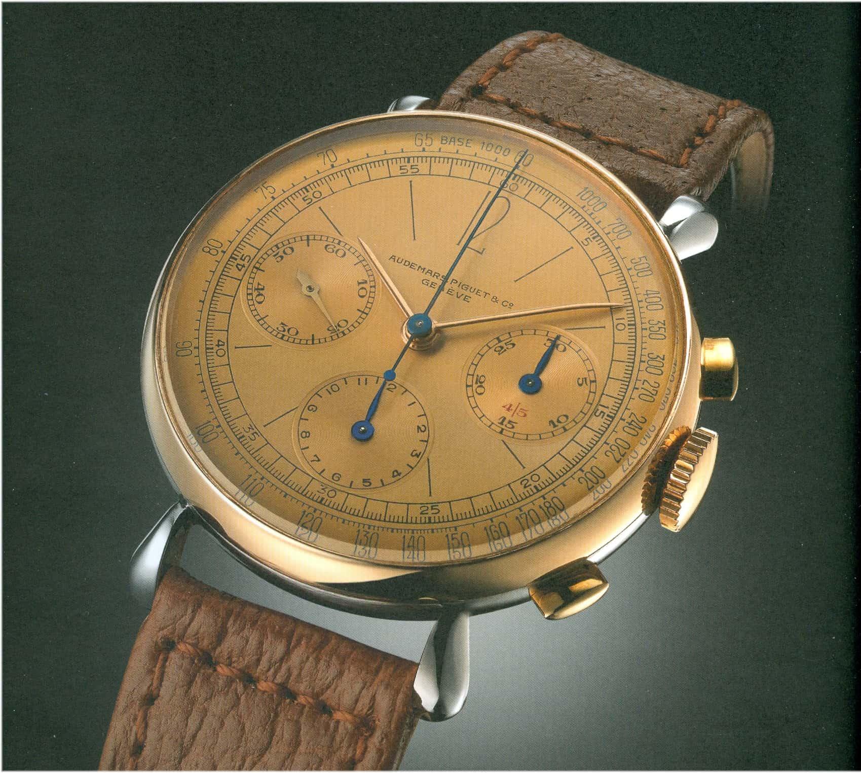 Die Audemars Piguet Forme 10198 und das  Handaufzugskaliber 13VZAH wurde von 1943 bis 1946 verkauft