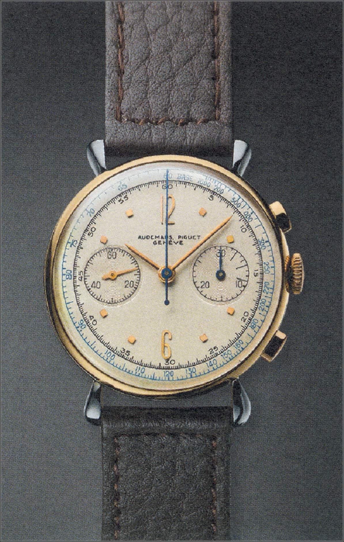Vom Audemars Piguet Handaufzugschronograph, Forme 10198, Foto 1532, sind nur neun Exemplare bekannt