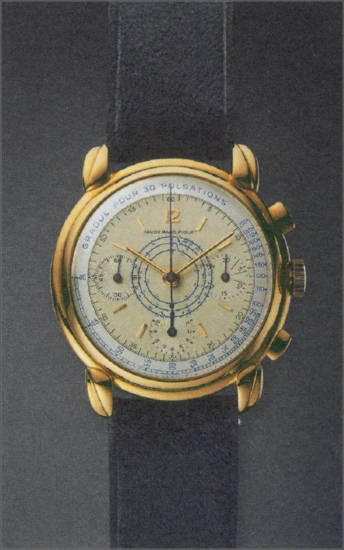 Der Audemars Piguet Chronograph, Kaliber 13VZAH wurde zwischen 1947 - 1949 gebaut