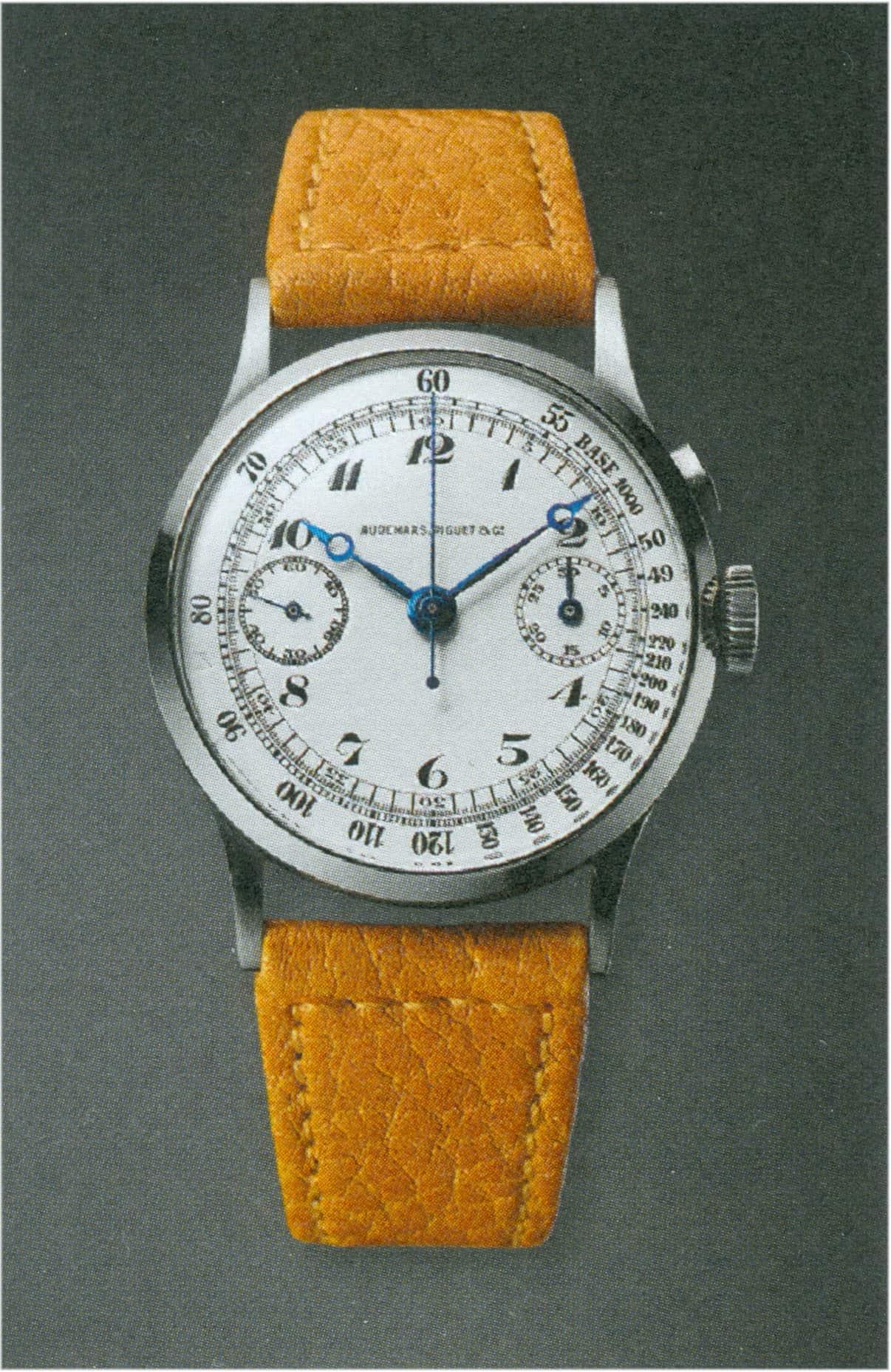 Der Drücker-Chronograph in Edelstahl, Kaliber 13 Chrono, wurd im Jahr 1936 von Baron Sysonby erworben