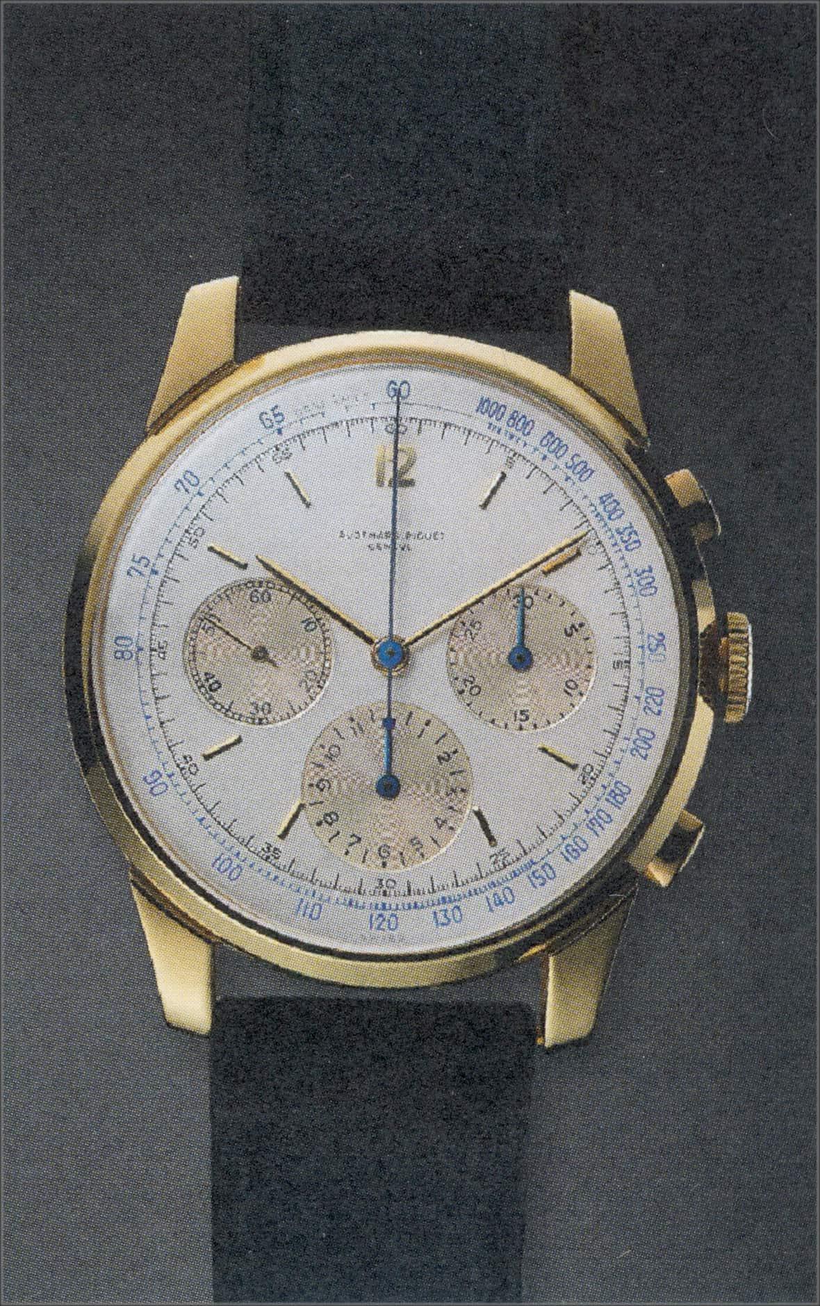 Dieser Handaufzugschronograph, Referenz 5522, entstand  im Jahr 1950