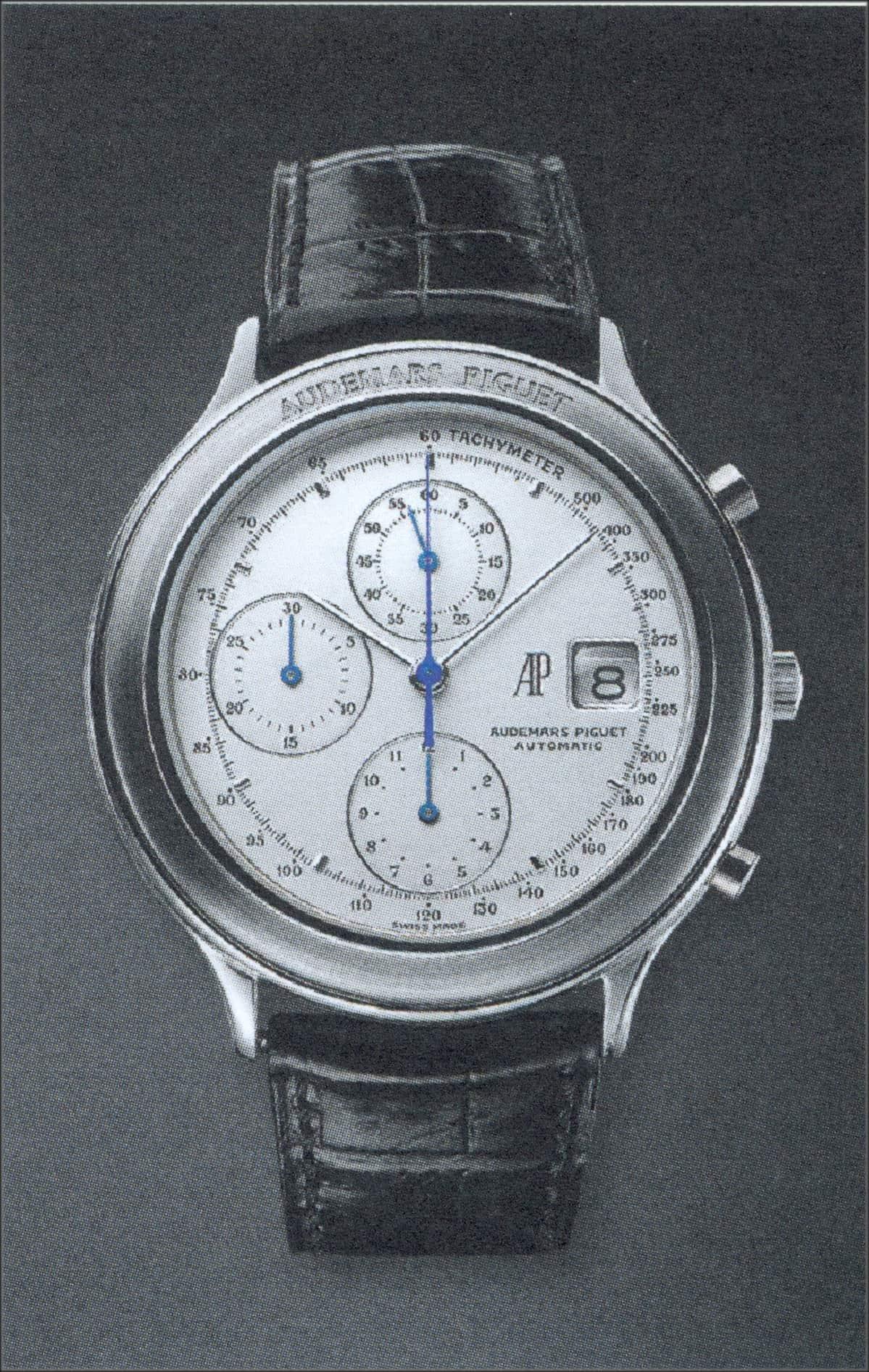 Der Audemars Piguet Huitieme Chronograph, Automatikkaliber 2126-2840, von 1988 wird nicht mehr hergestellt