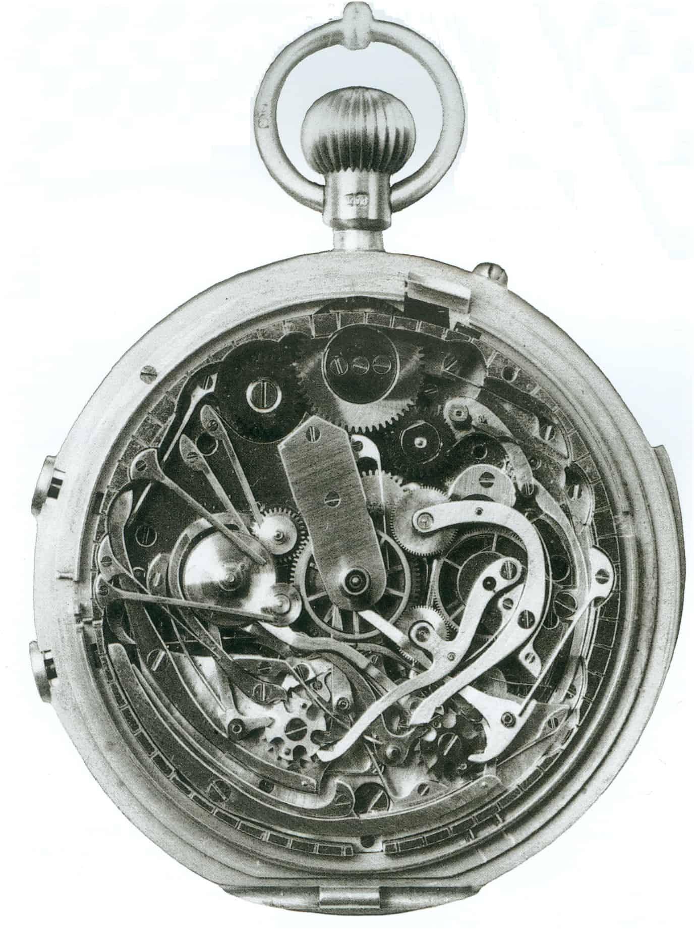 Audemars Piguet Taschenuhr mit Minutenrepetition und Doppelchronograph