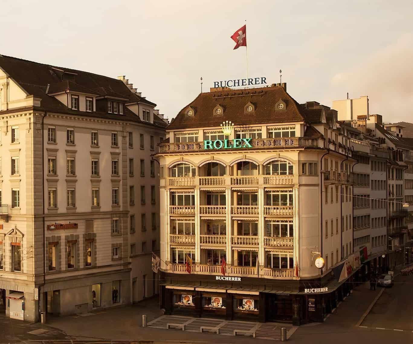 Bucherer in Luzern am Schwanenplatz war ein ausgezeichneter Verkäufer von Rolex Uhren