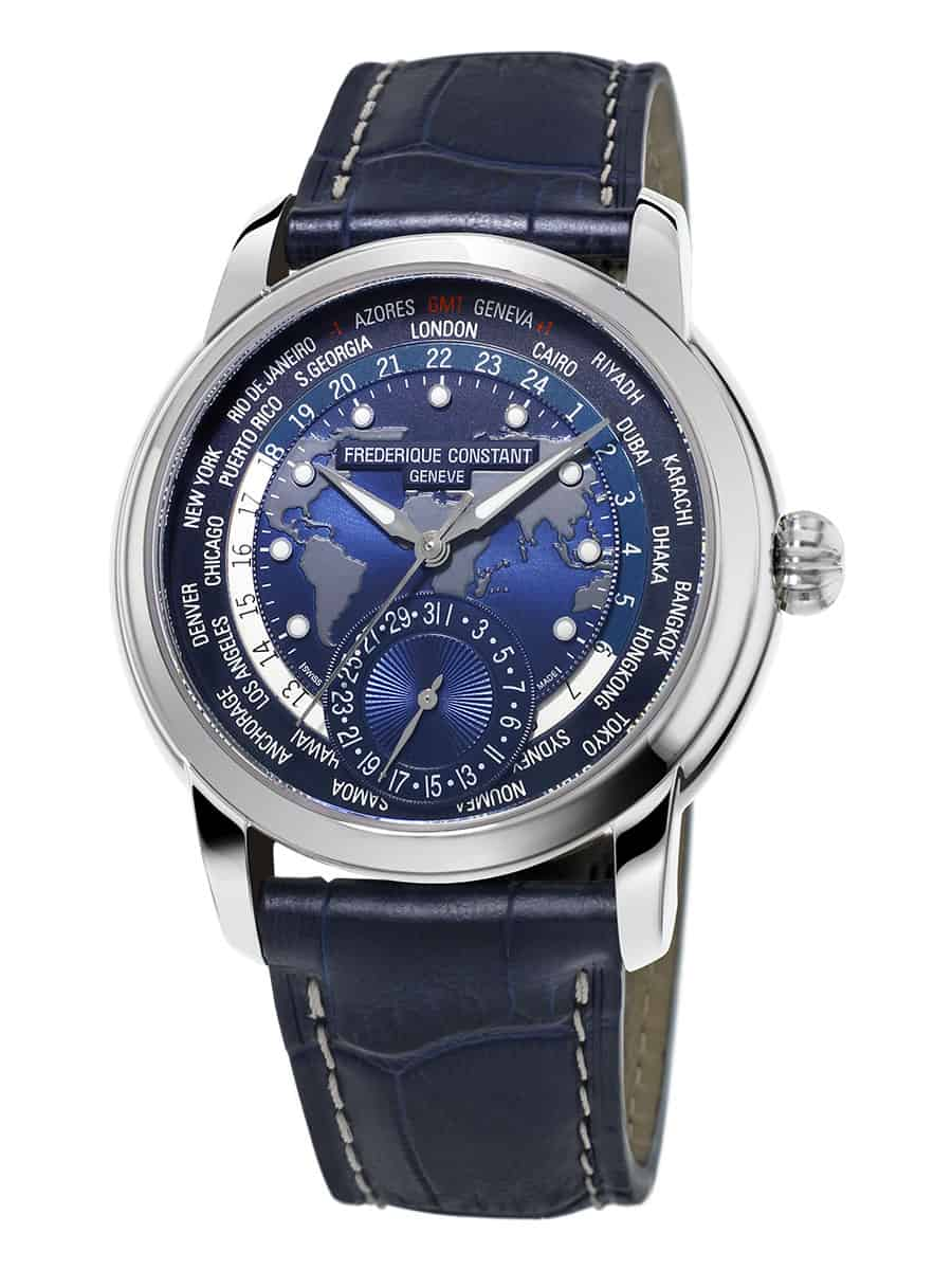 Frederique Contant Classic Worldtimer Manufacture in preiswerter Stahlversion