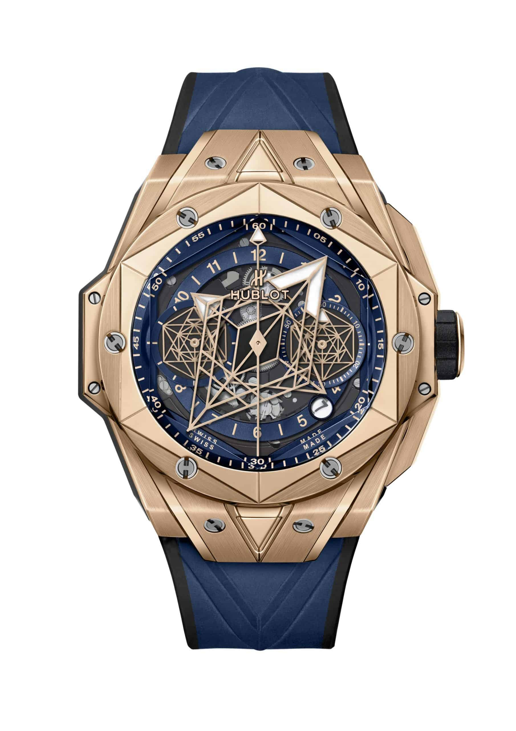 Die Version in speziellem Hublot King Gold: Hublot Big Bang Sang Bleu II 418.OX.5108.RX.MXM20-SD-HR-W