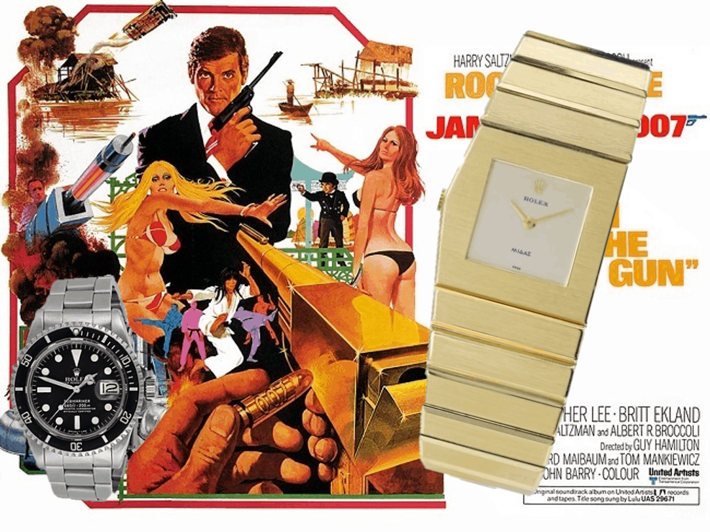 Rolex Submariner und die Rolex Cellini König Midas waren im Bond Film Der Mann mit dem goldenen Colt präsent