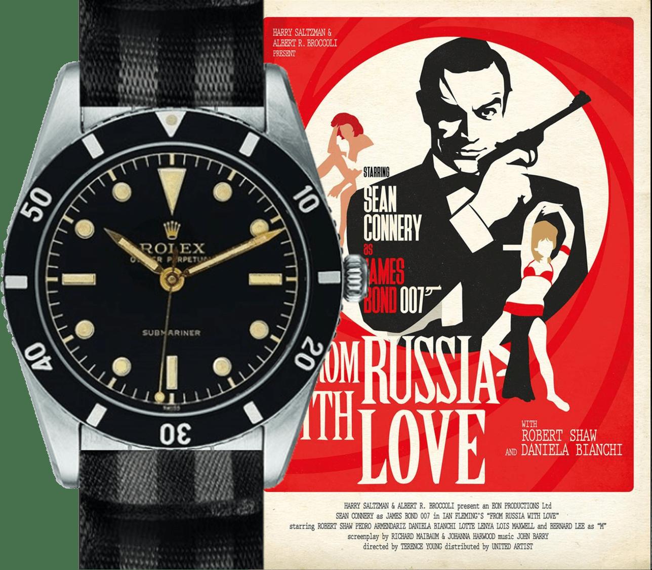 Armbanduhren-technisch auf der Höhe - James Bond in From Russia with Love