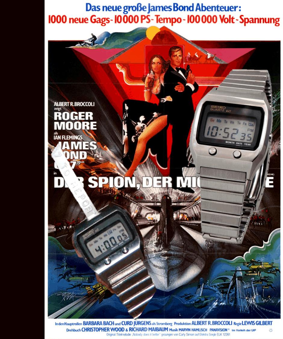 James Bond Uhren Der Spion der mich liebte Seiko 0674
