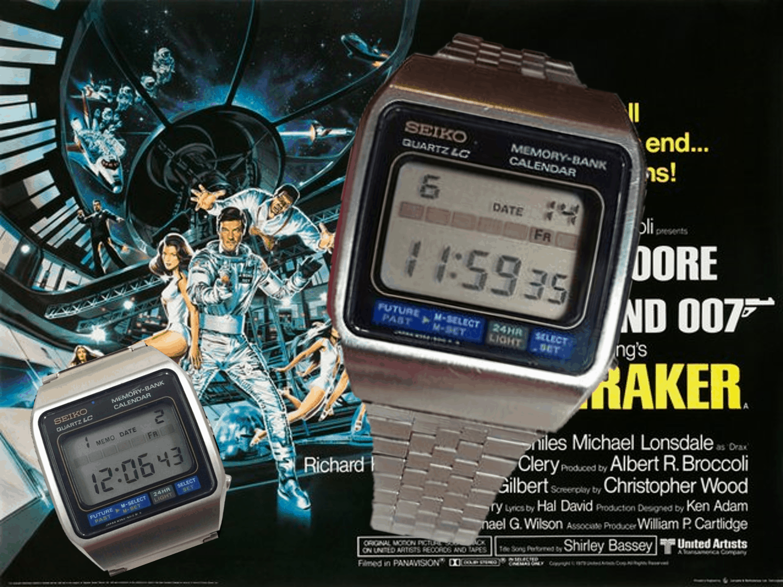 James Bond Uhr von Moonraker war die Seiko M354 Memory Bank Calender