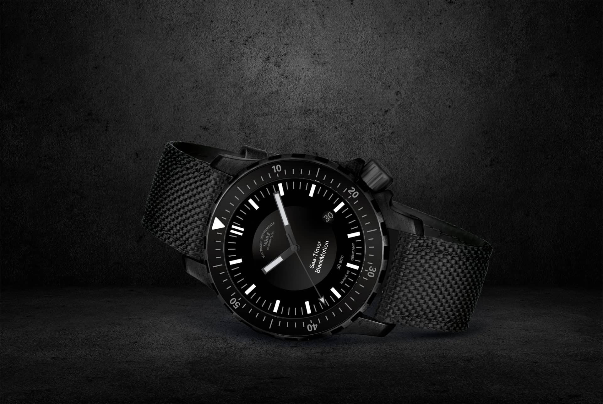 Mühle -Glashütte Sea-Timer BlackMotion
