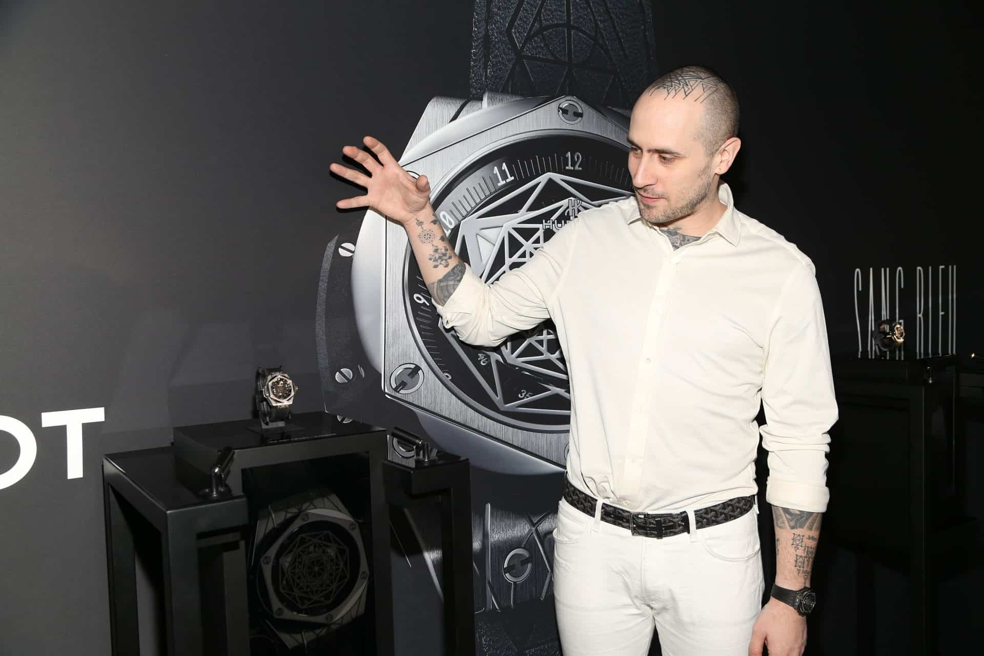 Maxime Plescia Büchi bei der 2016 in New York lancierten Hublot Big Bang Sang Bleu 1