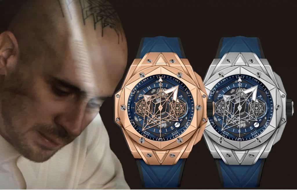Maximr Büchi und der Hublot Big Bang Sang Bleu II Chronograph
