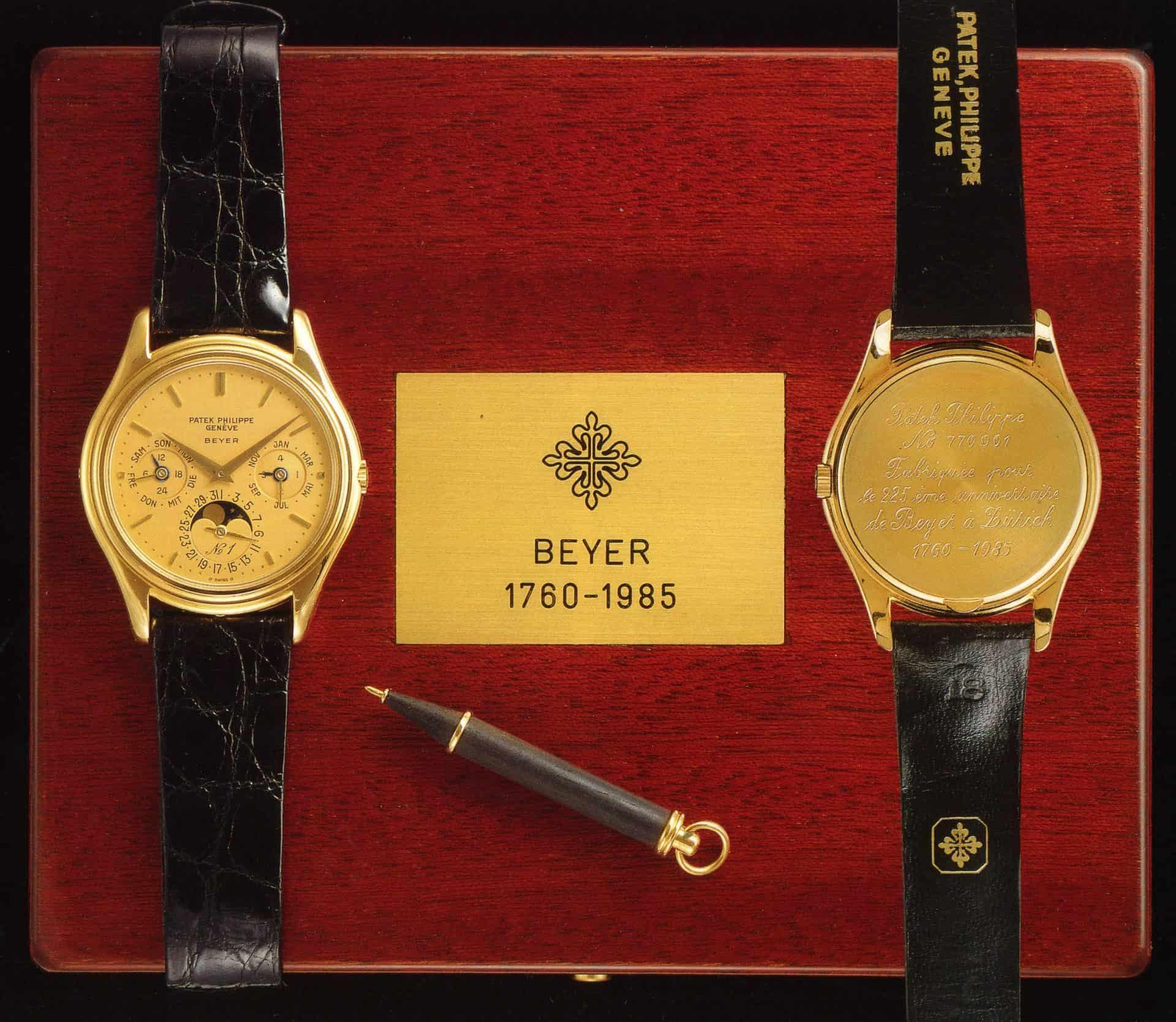 Anlässlich von 225 Jahren Beyer Chronometrie wurde die Patek Philippe Referenz 3940 aufgelegt.