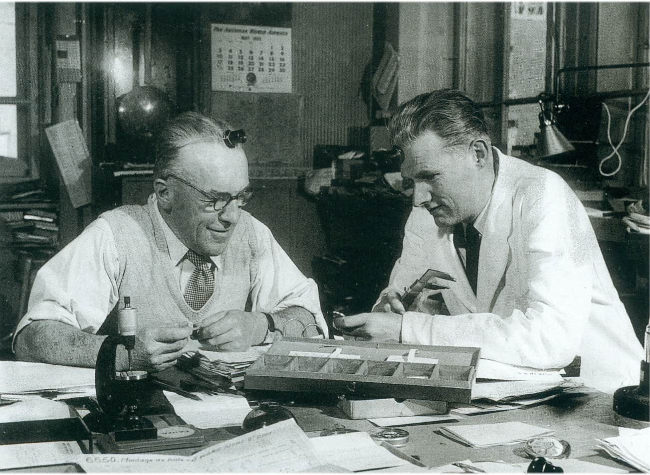 Paul-Edward Piguet und Jacques-Louis Audemars in den 1950-er Jahren