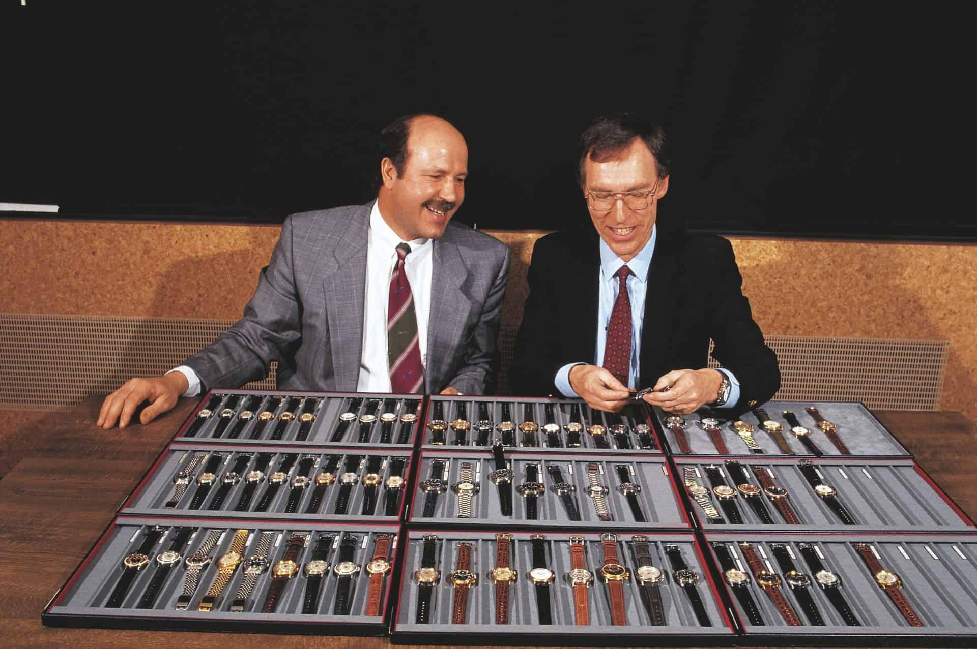 Ulrich Herzog (links) und Dr. Rolf Portmann nach der Übernahme von Oris