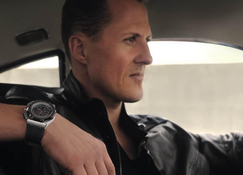 Michael Schumacher und seine Audemars Piquet Royal Oak Offshore mit einer Cermet-Lünette