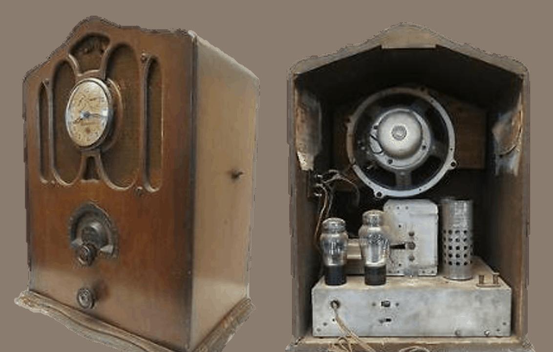 Bulova Vintage Uhrenradio mit Röhrentechnik