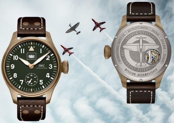 """Die IWC Big Pilot's Big Date Spitfire """"Mission Accomplished"""" würdigt den längsten Spitfire Flug"""