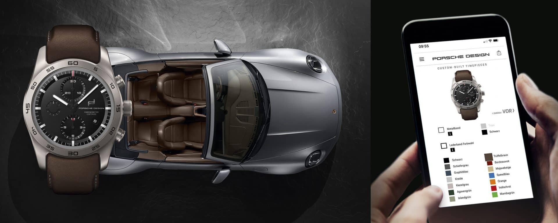 Der Porsche Design Chronograph wird wie ein Auto konfiguriert