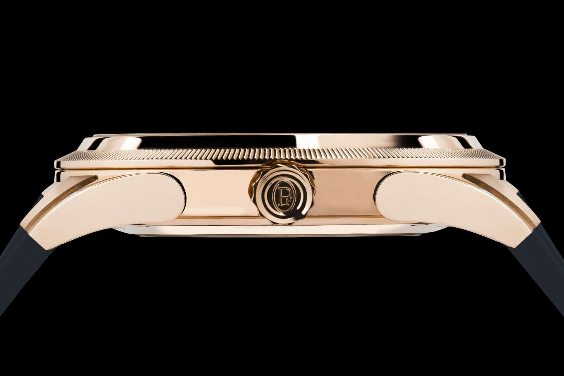 Parmigiani Fleurier Tonda GT Automatic mit Goldgehäuse seitliche Ansicht