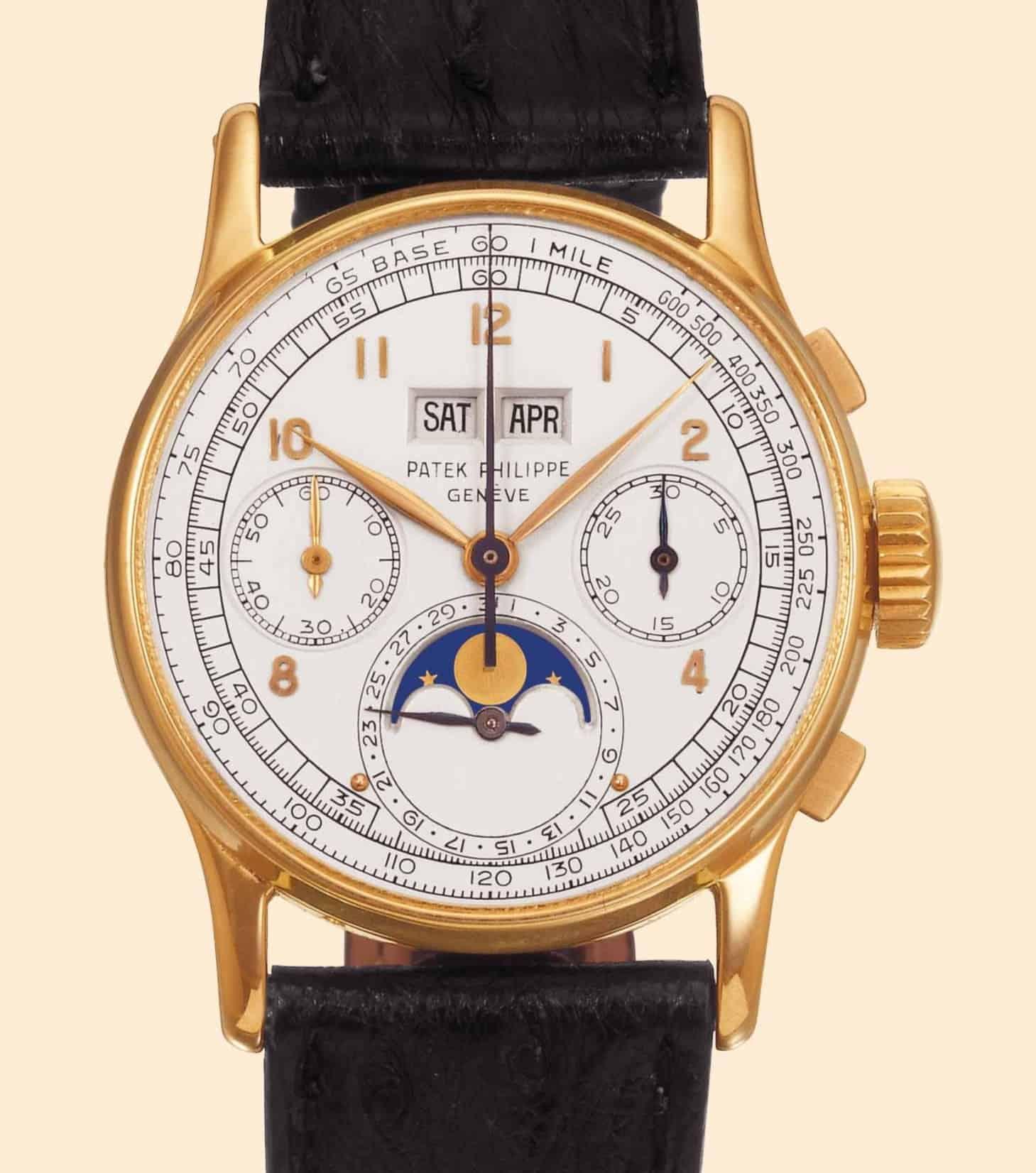 Die erste Serien-Armbanduhr mit ewigem Kalender von 1941 war die Referenz 1518 von Patek Philippe