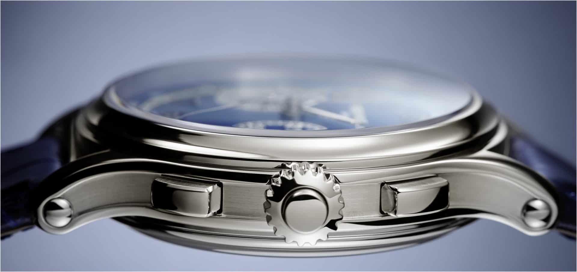 Patek Philippe Referenz 5370P-011 Schleppzeiger-Chronograph im Profil