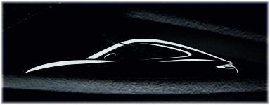 Die gezogene Porsche Carrera Flyline