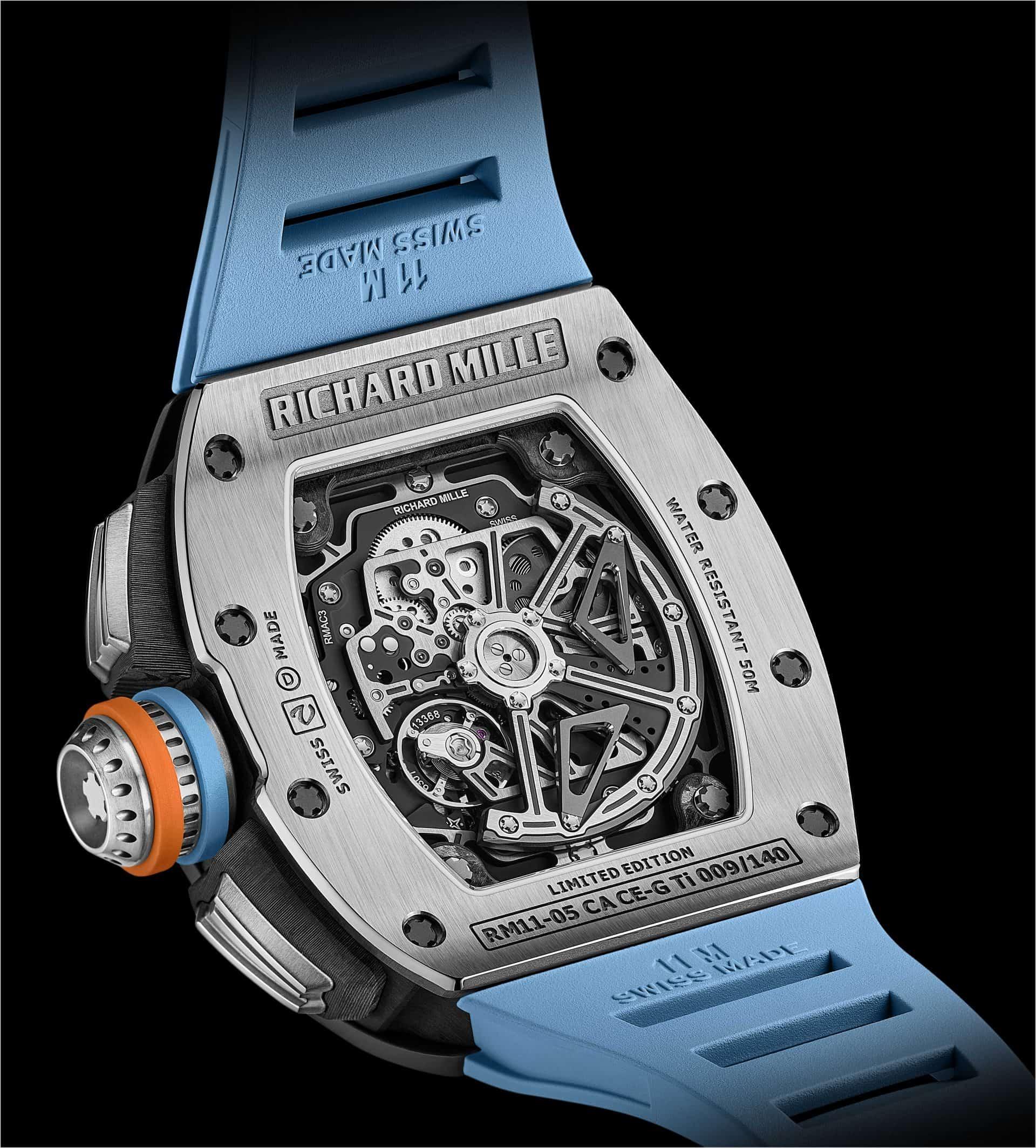Das Uhrwerk der Richard Mille RM 11-05 Automatic Flyback Chronograph GMT