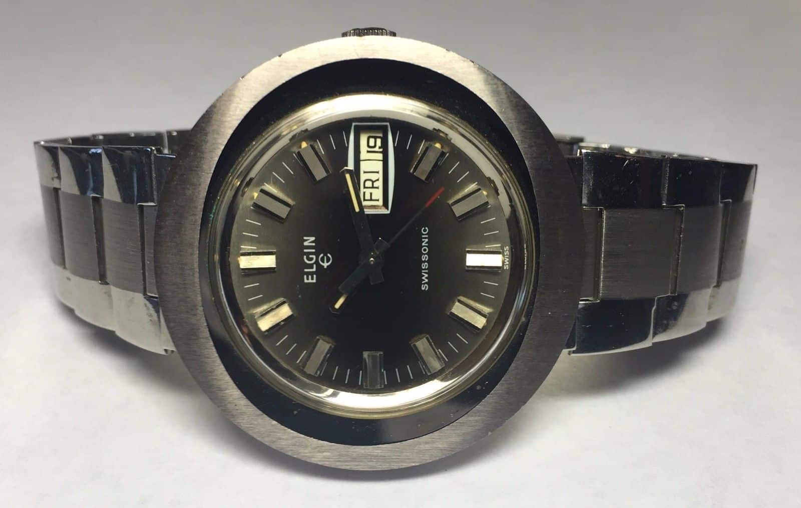 Swisssonic Vintage Uhr aus den 70er Jahren