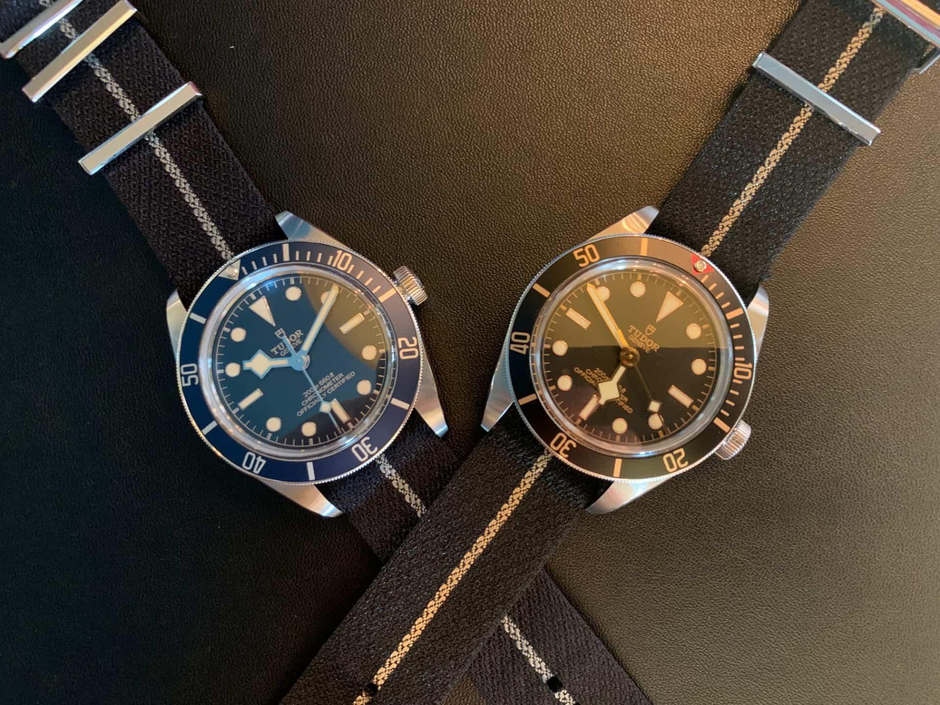 Tudor Black Bay Fifty-Eight Blue, 2020, und Tudor Fifty-Eight von 2018.
