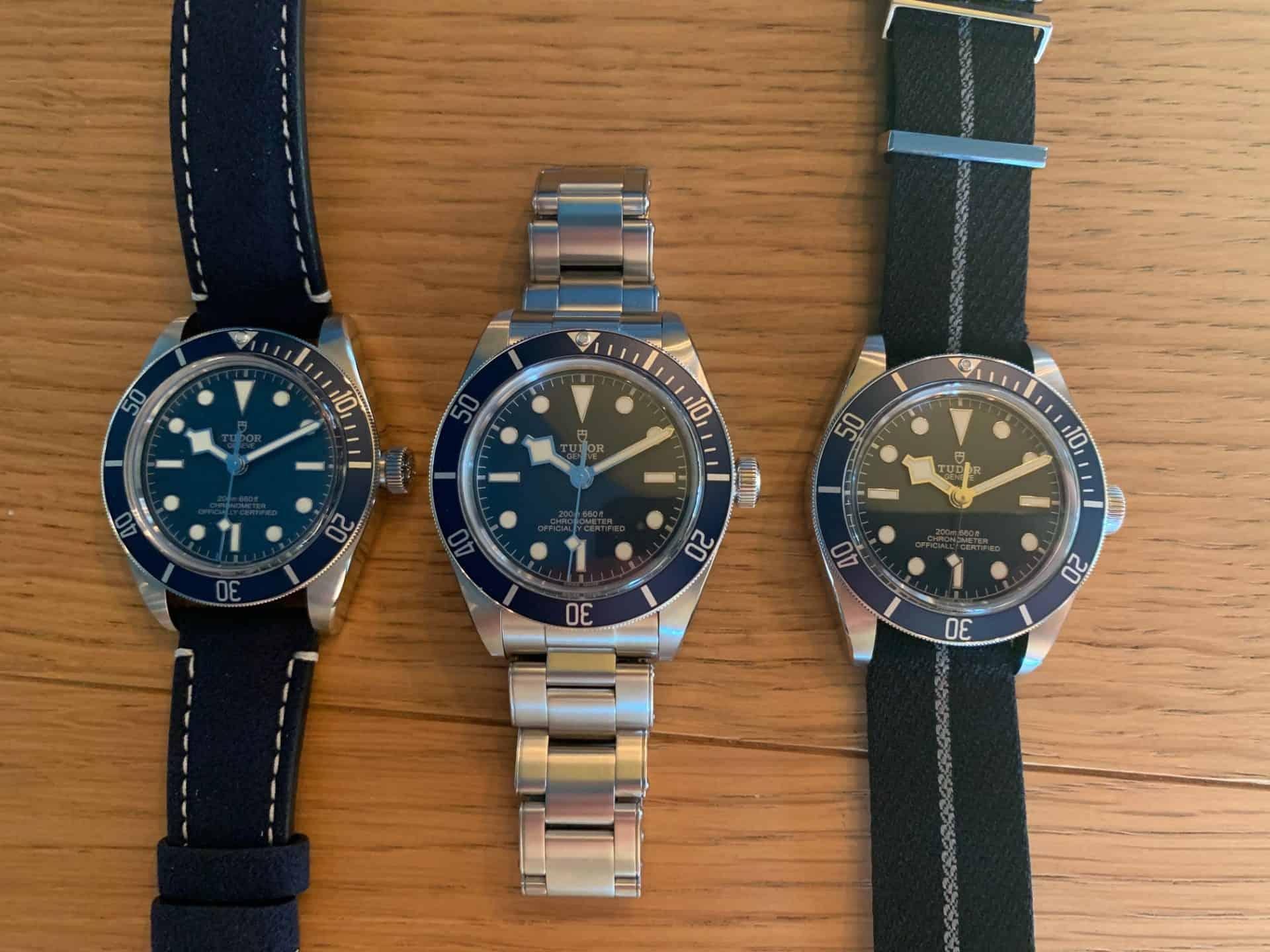 Tudor Black Bay Fifty-Eight Navy Blue Referenz 79030B mit entweder Soft Touch-, Glieder- oder Textilband