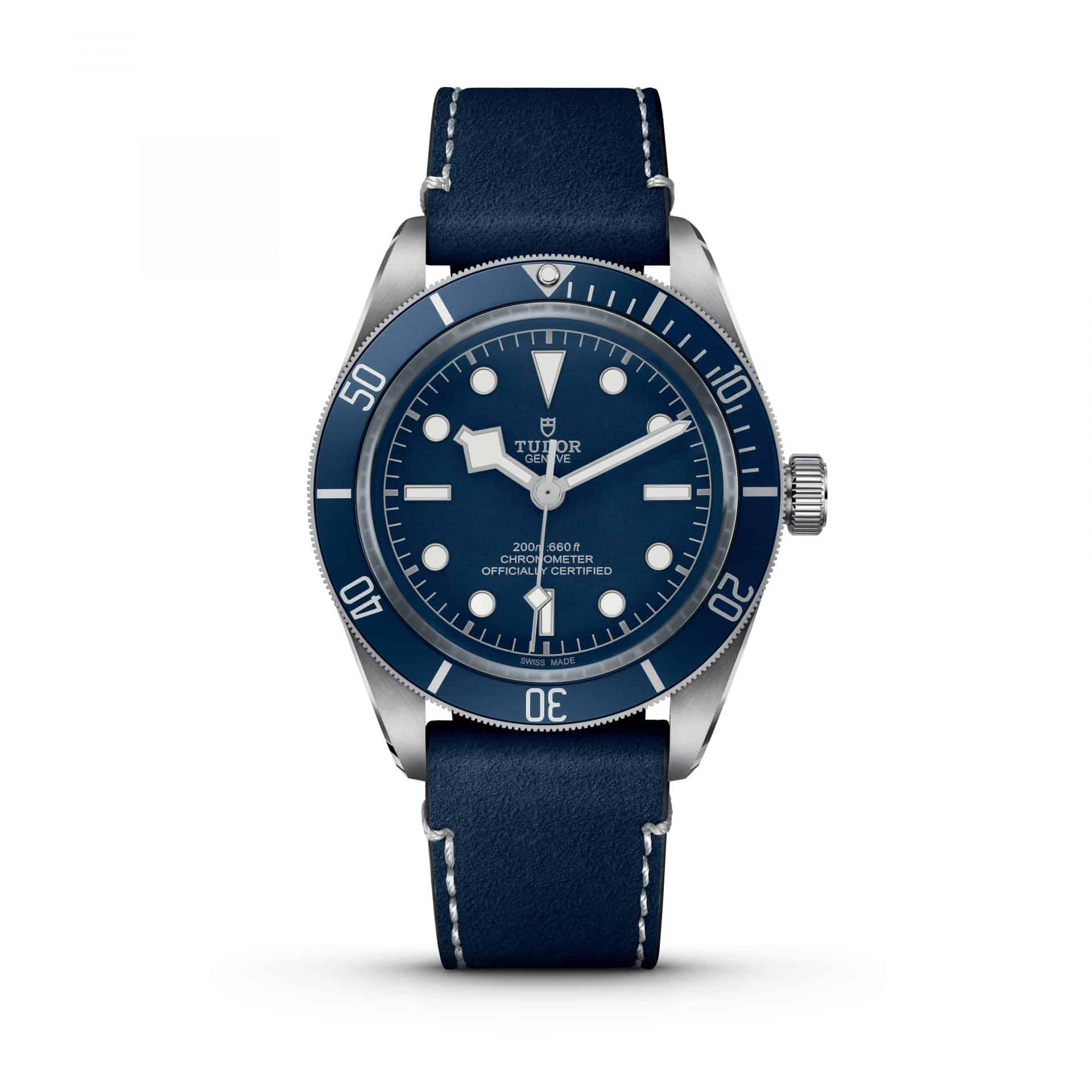 Die Variante Tudor Black Bay Fifty-Eight Navy Blue mit Soft Touch Band