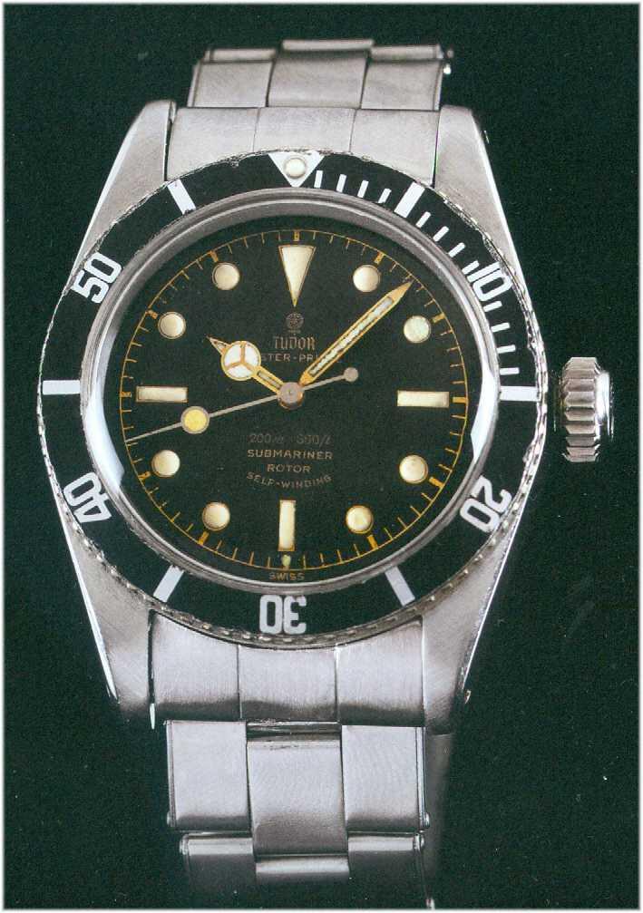 """Im Jahr 1958 produzierte Tudor die Oyster- Prince Submariner """"Big Crown"""", Referenz 7924"""