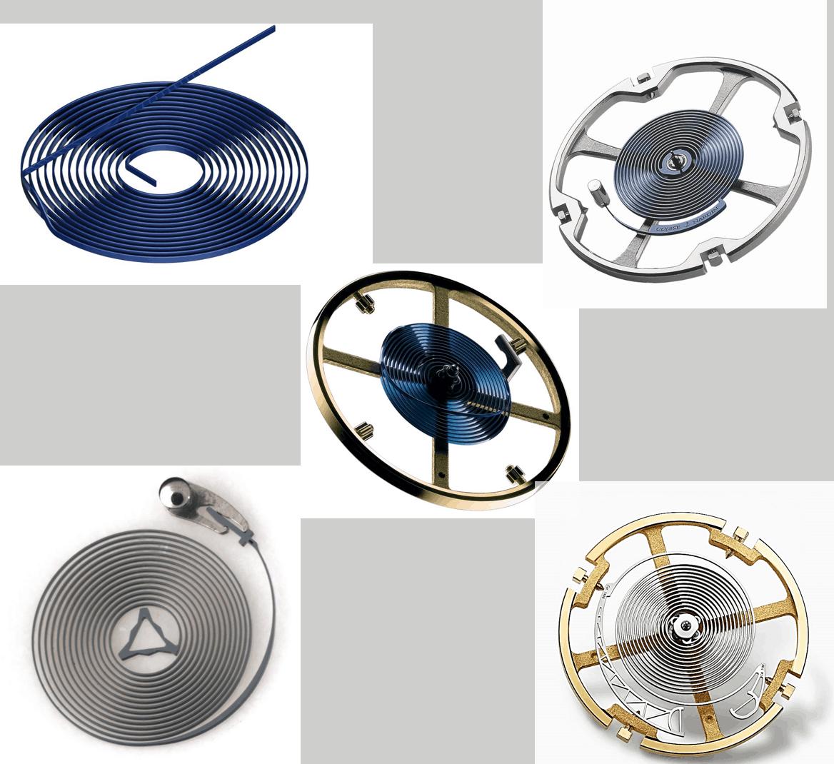 Spiralen und Breguetspiralen in moderner Form