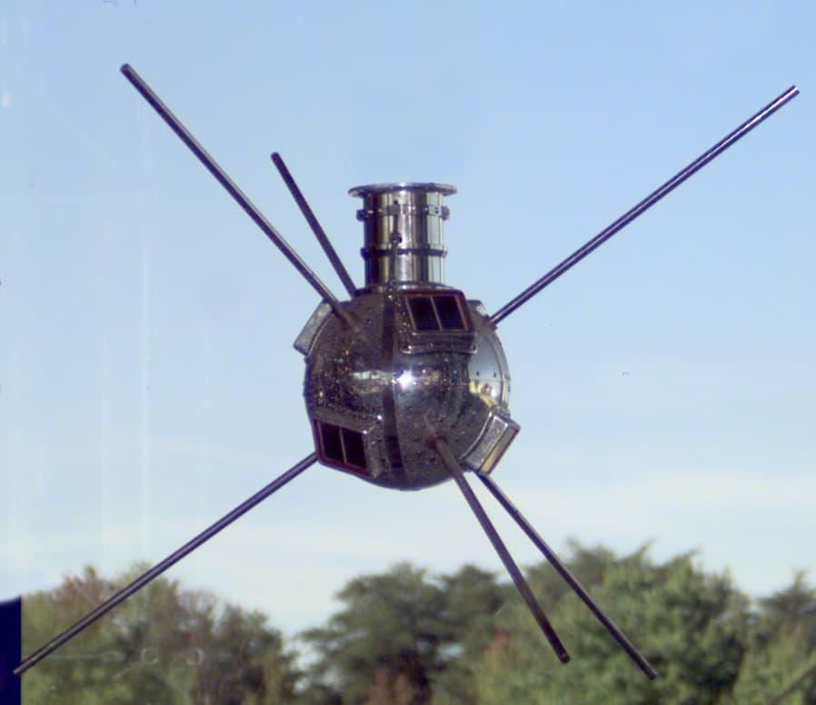 Der erste Nasa Satellit Vanguard 1 wie ihn die NASA schuf
