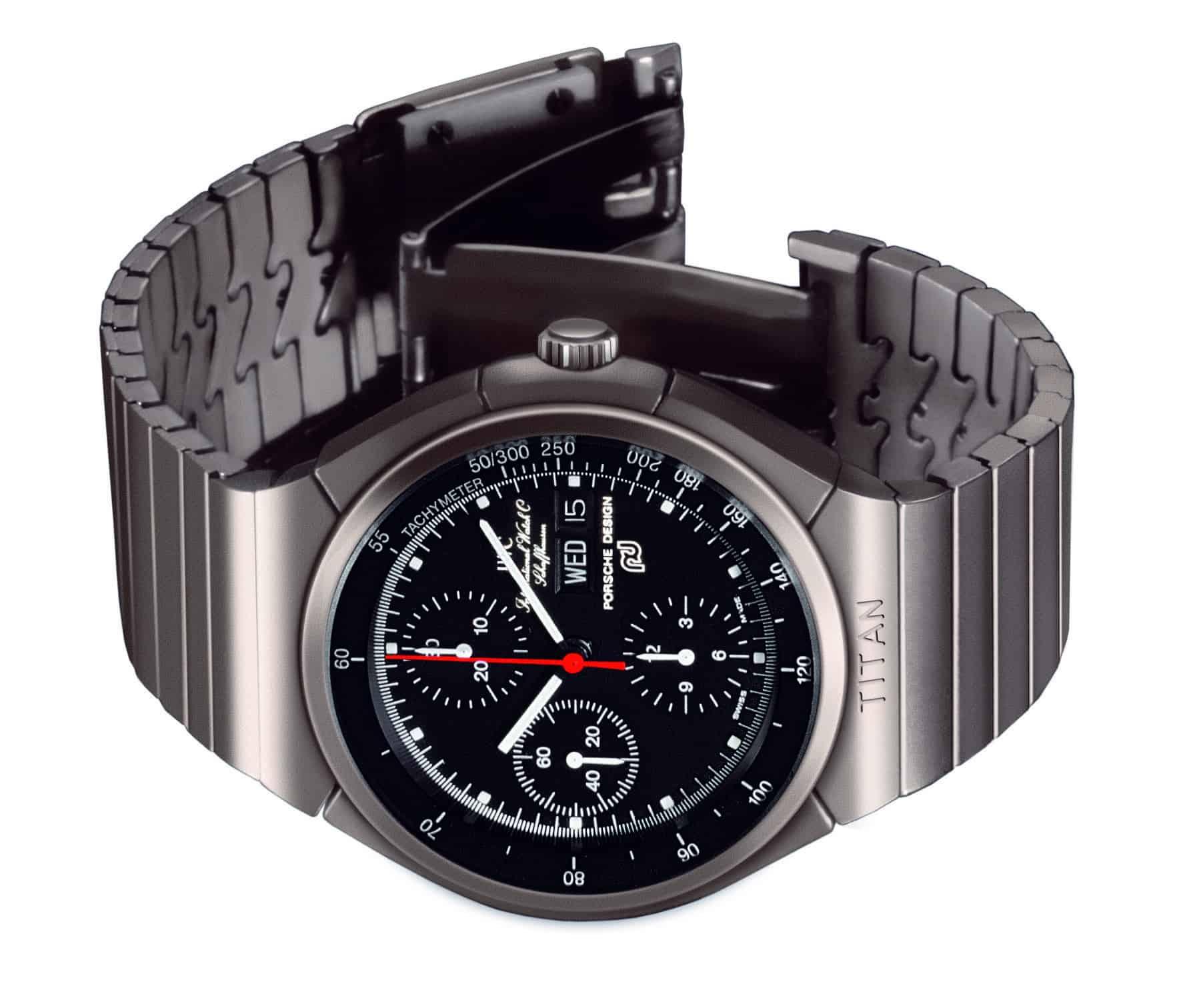 1980 lancierten Porsche Design und IWC den weltweit ersten Chronographen mit Titangehäuse und Titanarmband