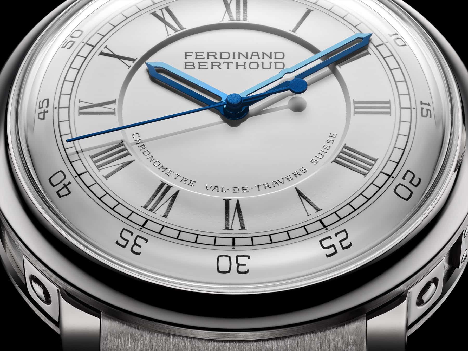 Der springende Sekundenzeiger der Ferdinand Berthoud Chronometer FB 2 wiegt lediglich 0,01 Gramm