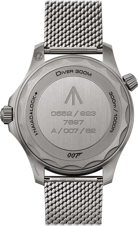 Omega Seamaster Diver 300M 007 Edition Gehäuseboden
