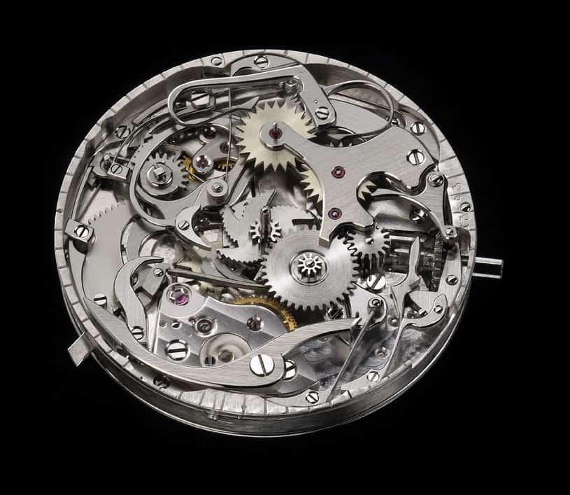 Das Chronographenelement des Kalibers der Kari Voutilainen Chronograph Masterpiece