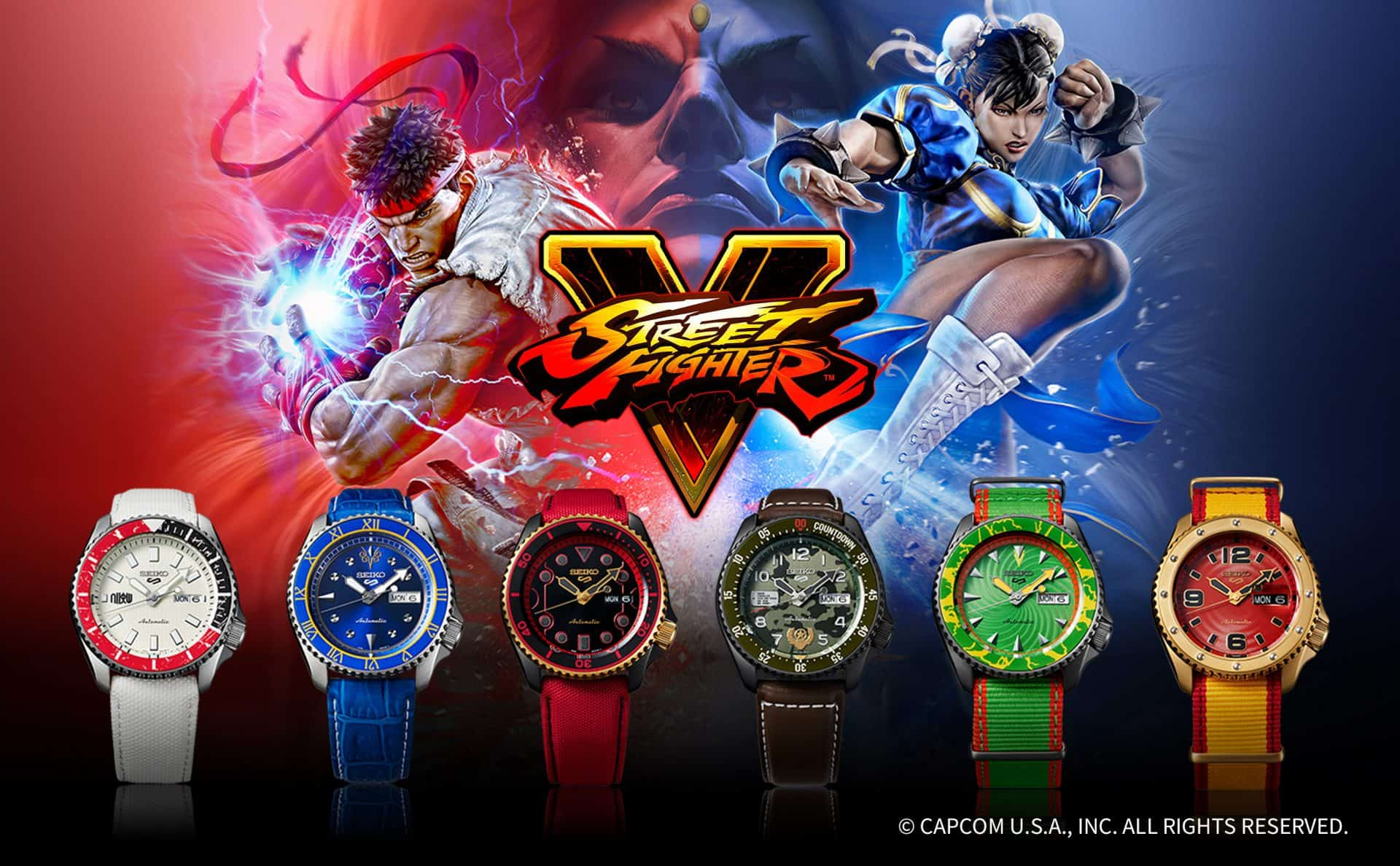 Seiko 5 Sports Street Fighter V Limited Edition6 bunte Charaktere: Die Seiko 5 Sports Street Fighter V Edition