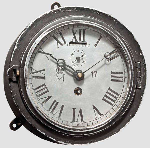Aluminium Uhr eines Luftschiffs der Marine wurde für 1500 € bei Hermann Historica