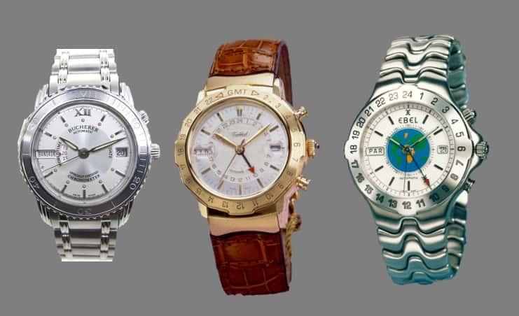 Alles aus den 1990er Jahrer - die Bucherer Archimedes Zeitzone, Tabbah  Personal TS World Time Selector und Ebel Sportwave Meridian