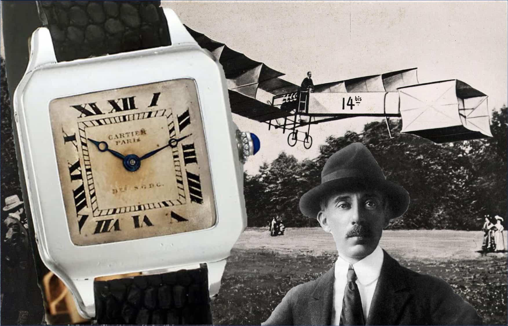 Alberto Santos Dumont und erste Cartier Santos