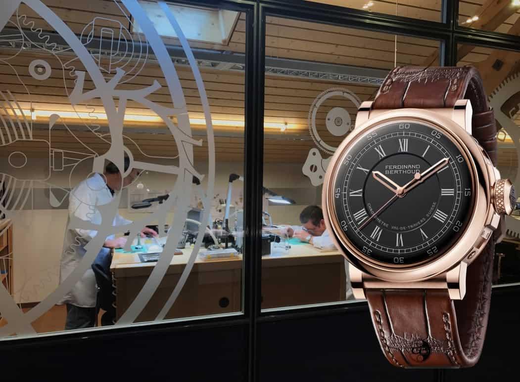 Chronometrie Berthoud Atelier in Fleurier bei der Arbeit am Ferdinand Berthoud Chronometer FB 2
