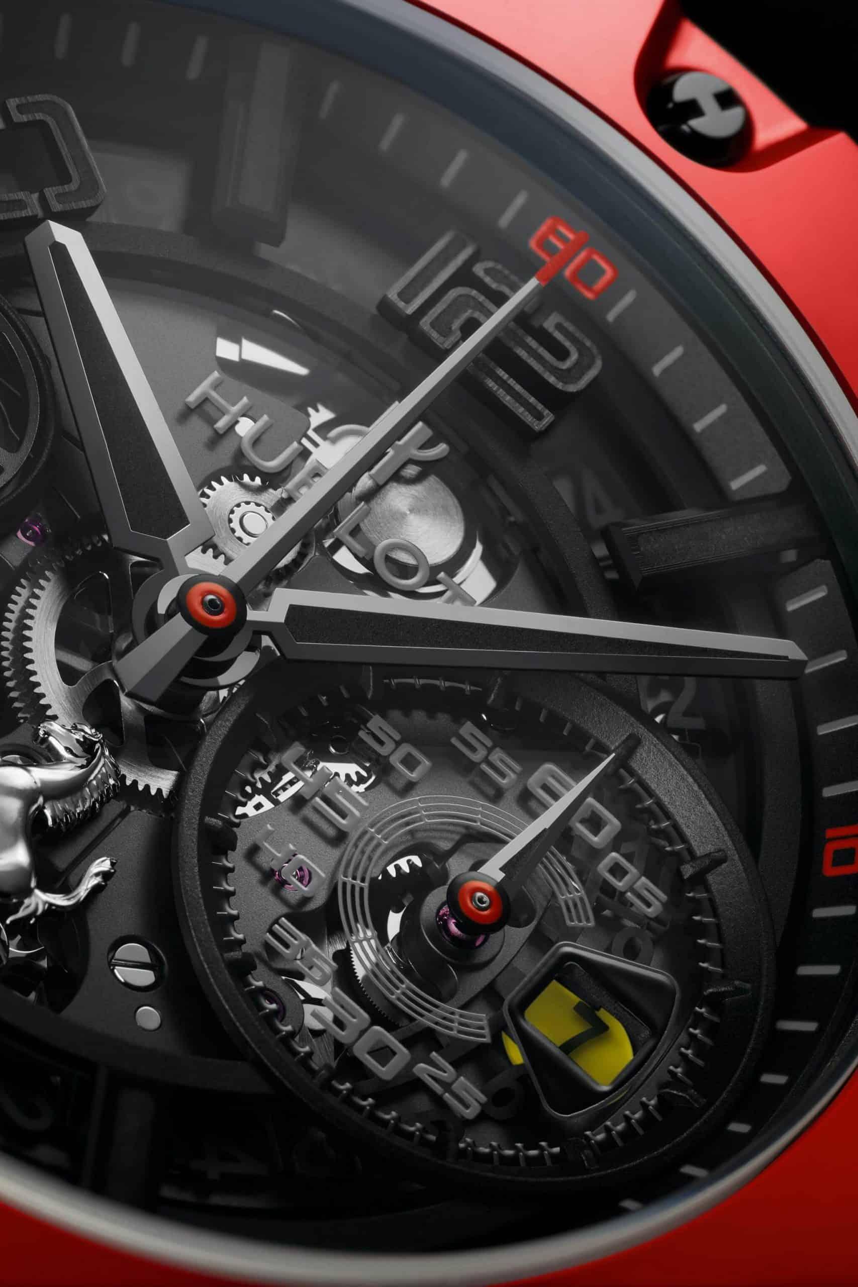 Formel 1 Chronographen Hublot Big Bang Ferrari Unico und sein durchbrochenes Zifferblatt